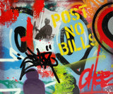 "COPE2  ""Post No Bills "" 25.5"" x 21"" Painting"
