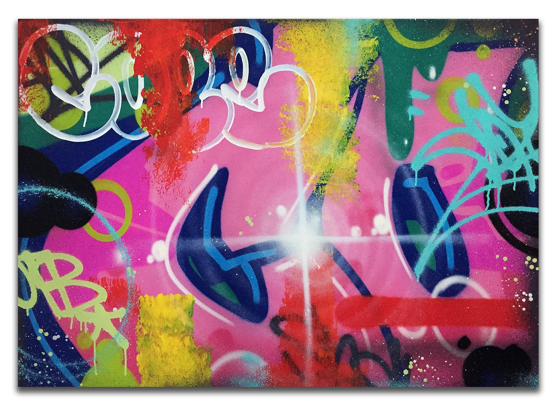 "COPE2  ""Pink Bubble ""43"" x 31"" Painting"