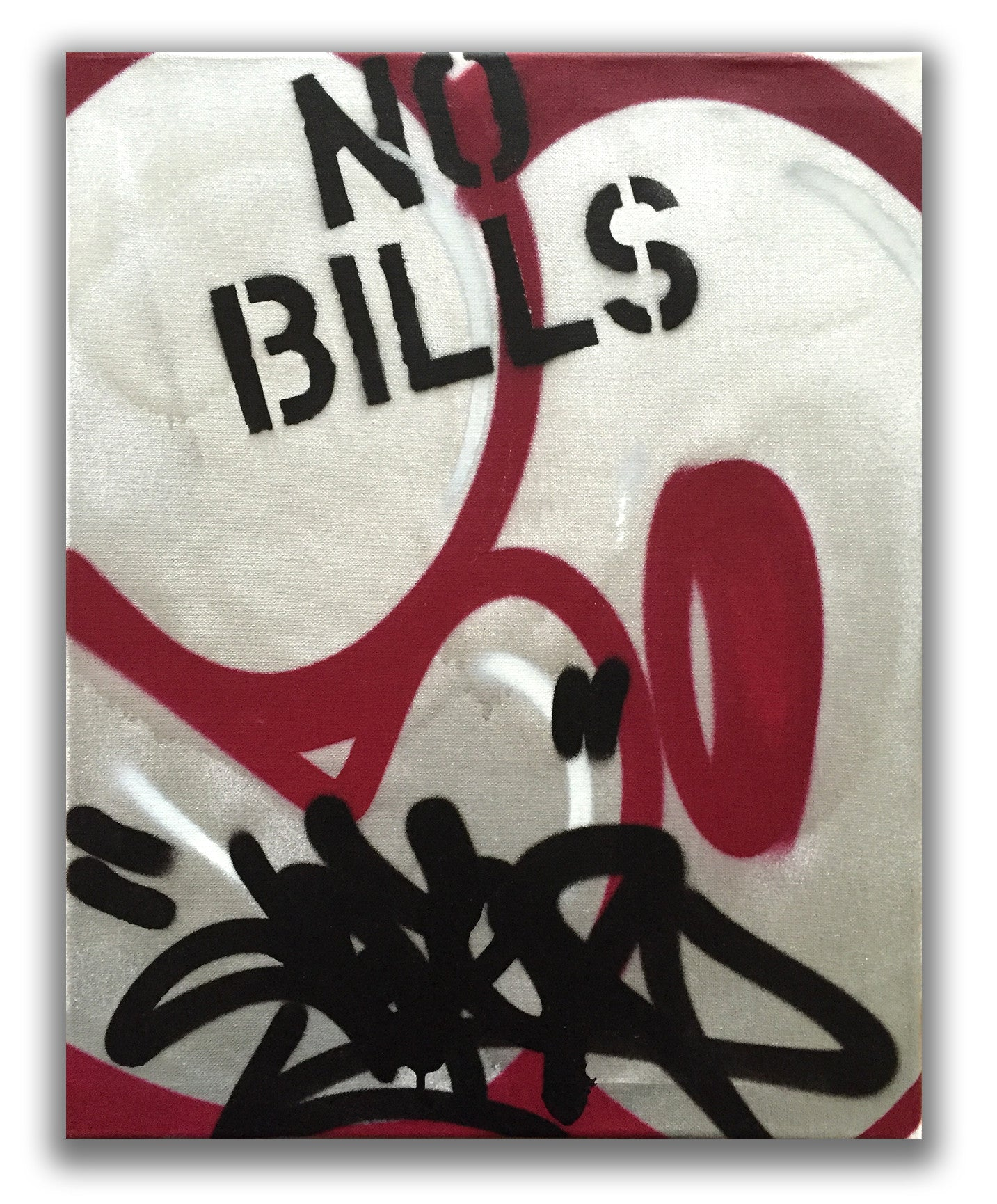 "COPE2 - ""Post No Bills Silver"" Painting"