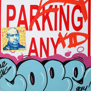 "COPE 2 - ""Blue Classic Bubble #2"" No Parking Sign"