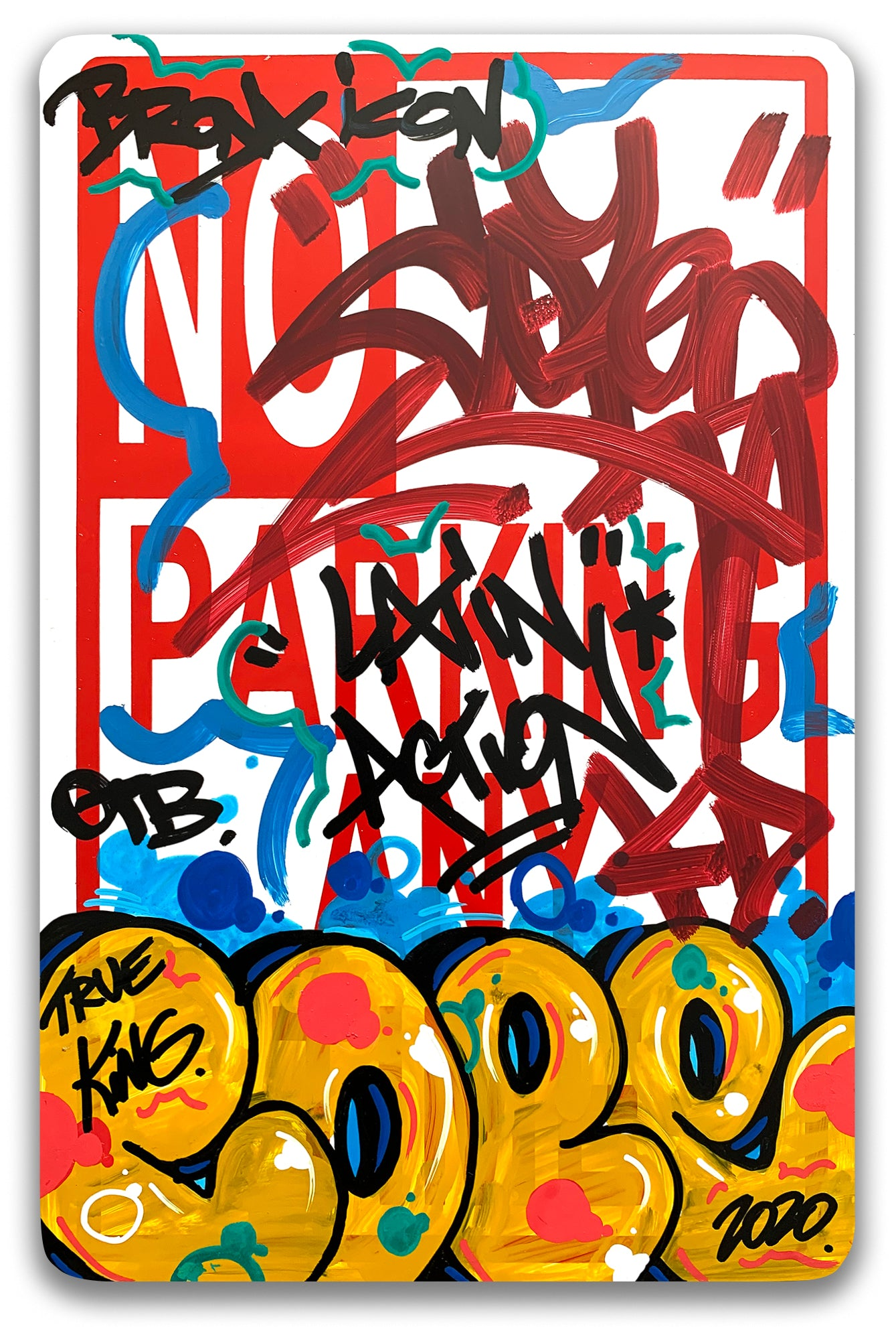 "COPE 2 - ""Latin Action"" No Parking Sign"