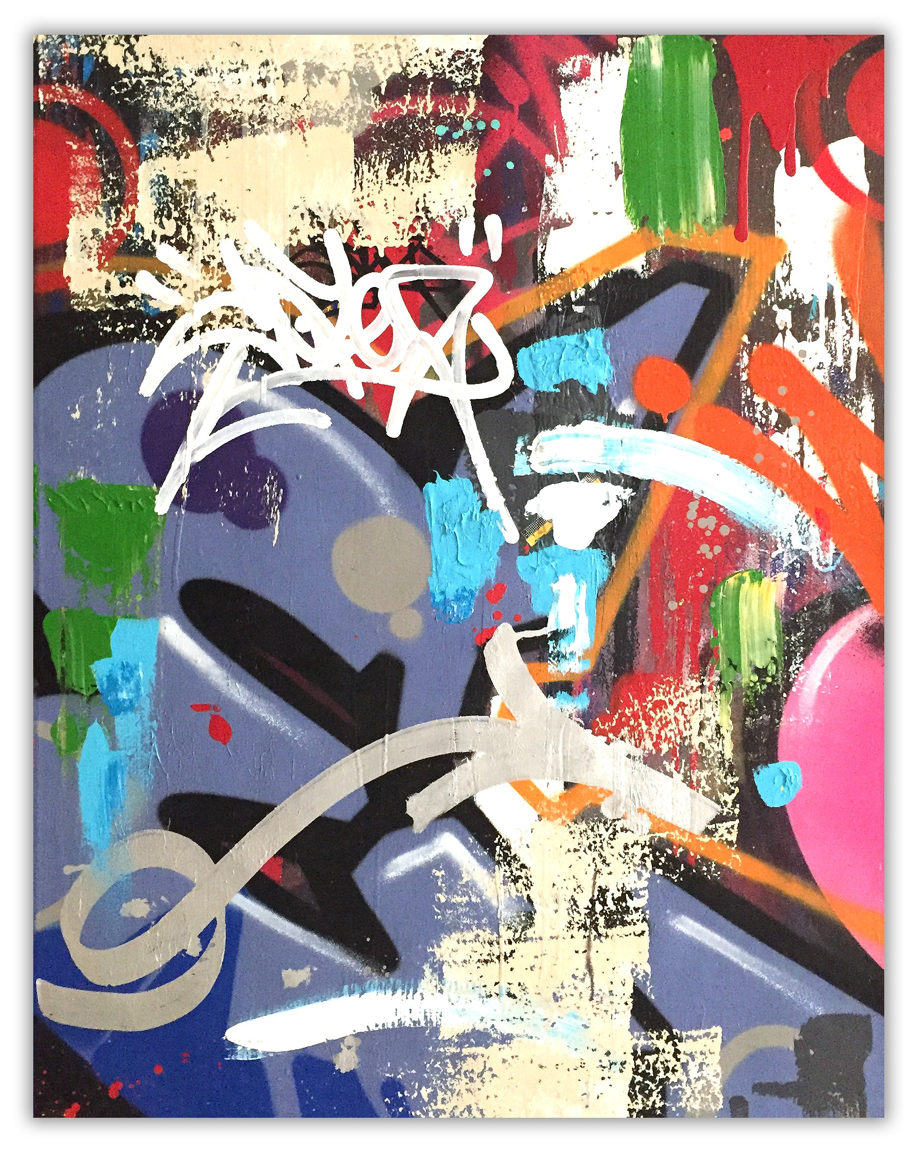 "COPE2  ""Remix ""30"" x 41"" Painting"