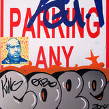 "COPE 2 - ""Silver Classic Bubble #1"" No Parking Sign"