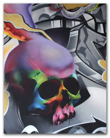 "CRAYONE  ""Skull"" Painting"