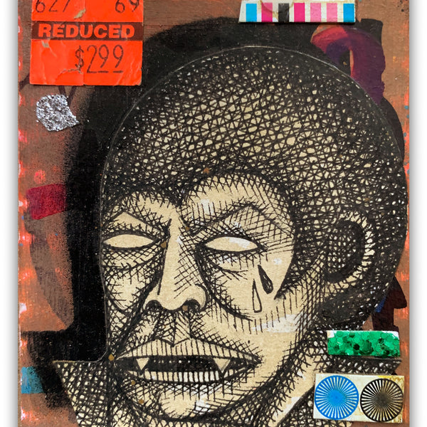 "Carlos Ramirez  - ""Ghetto Card 1"" Drawing"