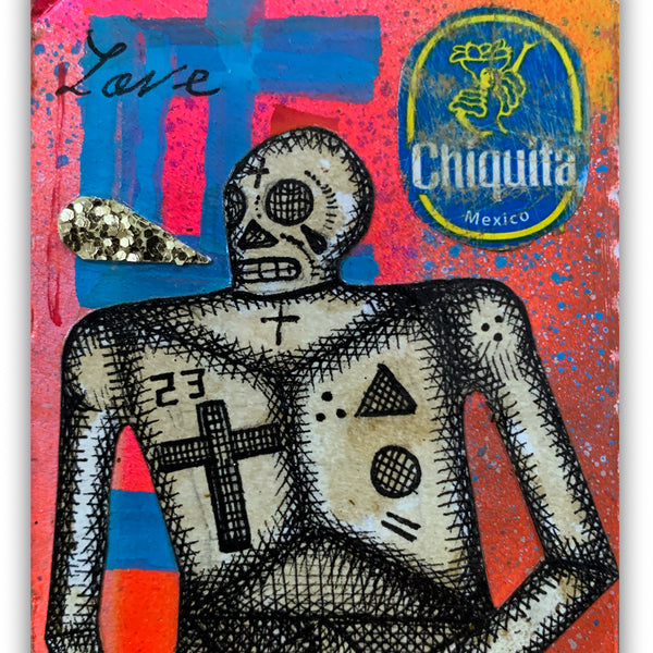 "Carlos Ramirez  - ""Ghetto Card 2"" Drawing"