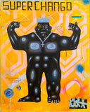 "Carlos Ramirez  - ""Super Chango"" Painting"