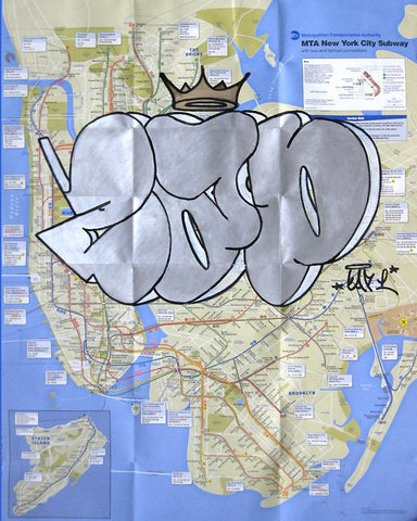 "CAP - Unititled ""Silver 3"" NYC Transit Map"