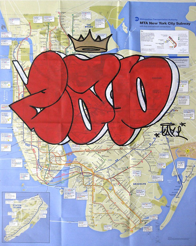 New York Subway Map Red.Cap Unititled