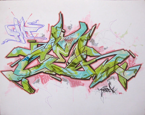 "CES ONE- ""Untitled 2"" BlackBook Drawing"