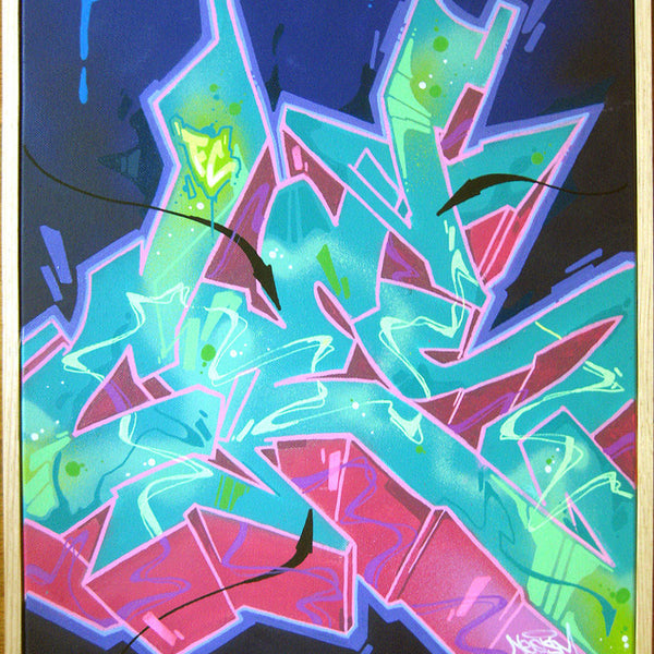 "CES ONE - ""Untitled 6"" Painting"