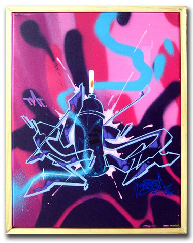 "CES-ONE - ""Spray Can"" Painting"