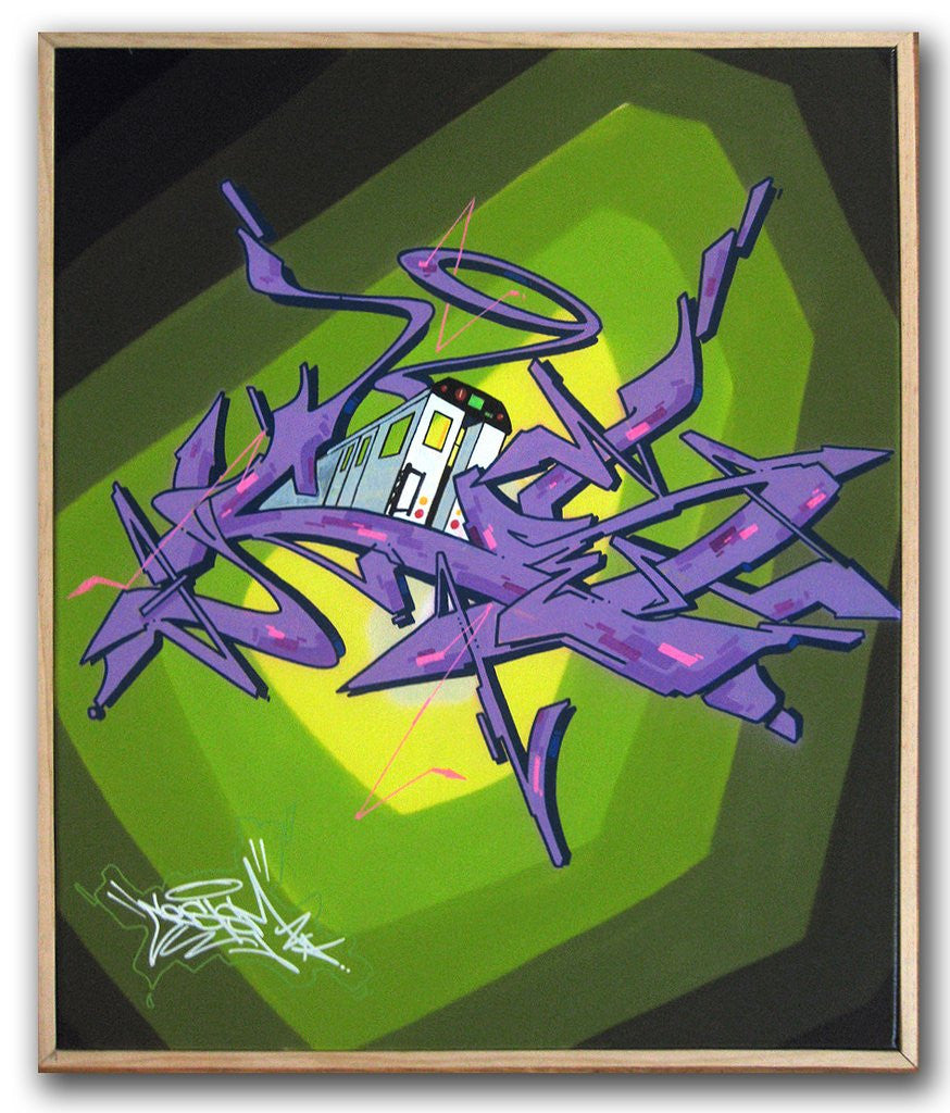 "CES ONE - ""Train#2"" Painting"