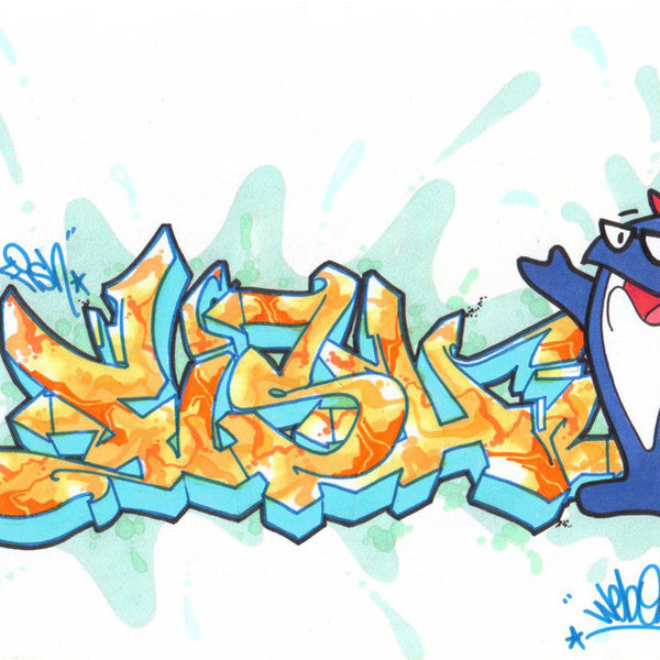 "WEB ONE - TC5 - ""Fish""  Blackbook Drawing"