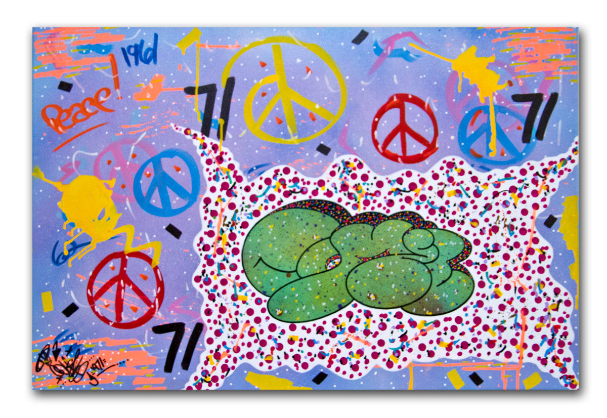 COMET -Peace, Love and Happiness - Painting