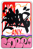 "COPE 2 - ""Pink Classic Bubble#2 "" No Parking Sign"