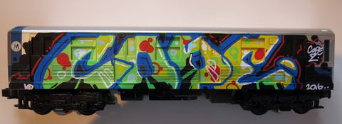"COPE2 - ""Subway Model D Train"" Painting"