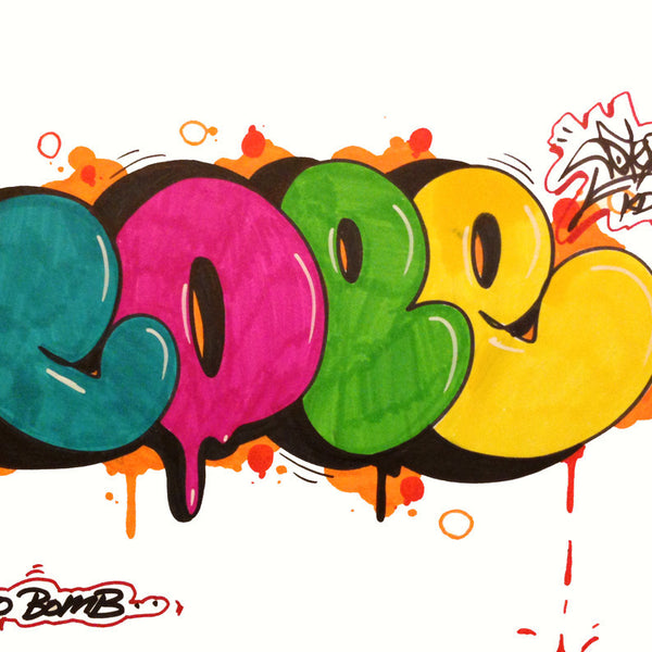 "COPE 2 - "" Multi Bubble "" Black Book Drawing"