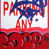 "COPE 2 - ""Red Classic Bubble #2"" No Parking Sign"