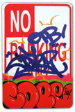 "COPE 2 - ""Red Classic Bubble"" No Parking Sign"