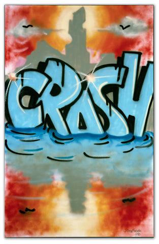 "JOHN ""CRASH"" MATOS - ""Graffiti Girl"" Painting 1983"