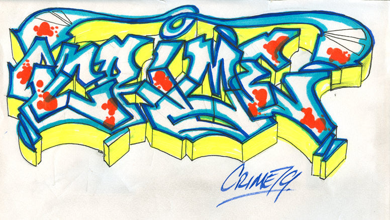 "CRIME 79 - ""Untitled#1"" Black Book Drawing"