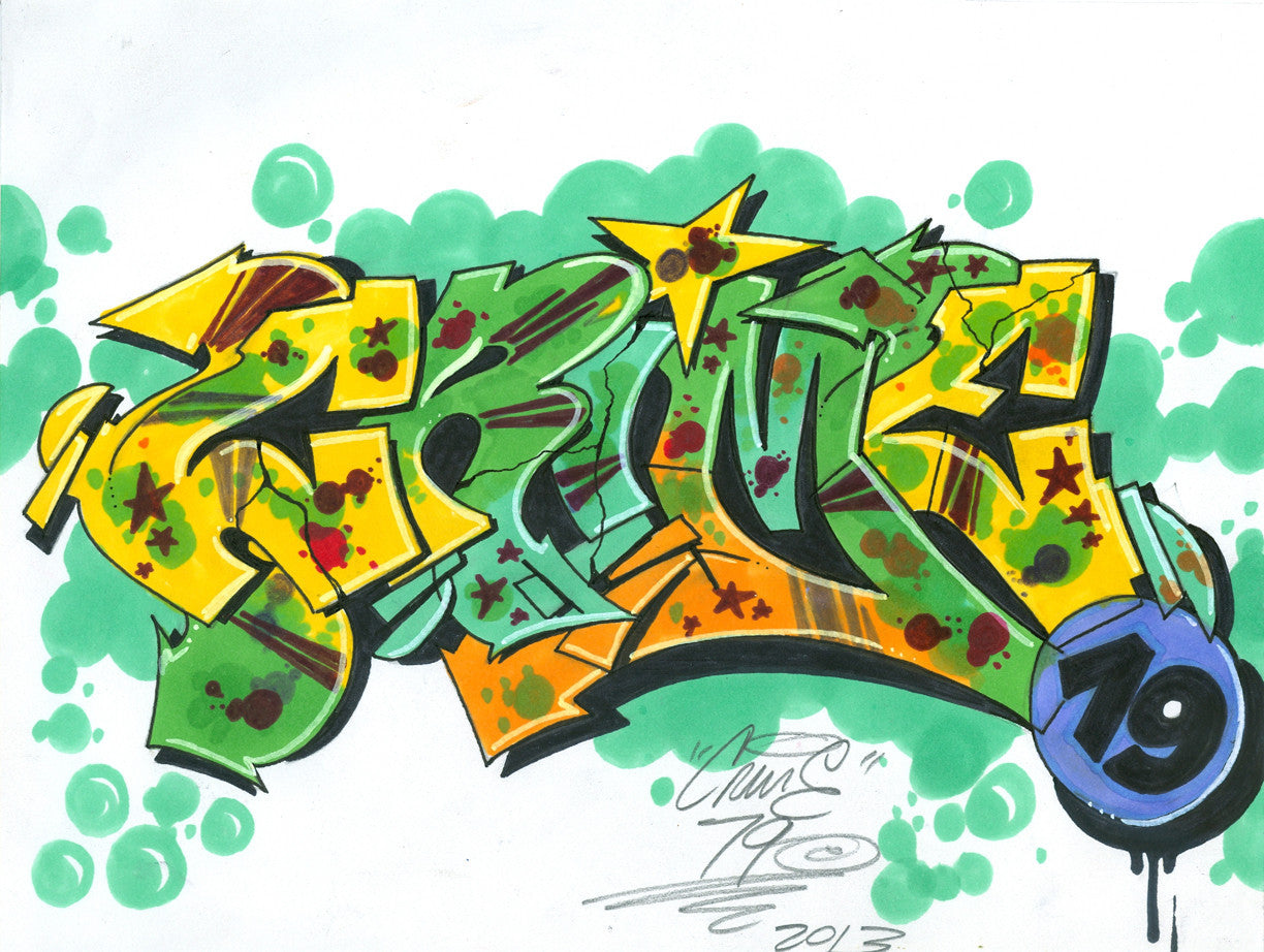 "CRIME 79 - ""Wild Style"" Black Book Drawing"