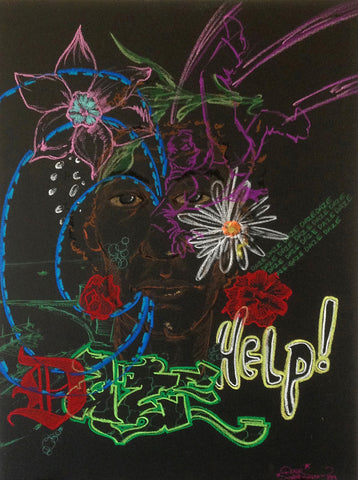 "Chris ""DAZE"" Ellis - ""HELP "" 1989 Pastel"