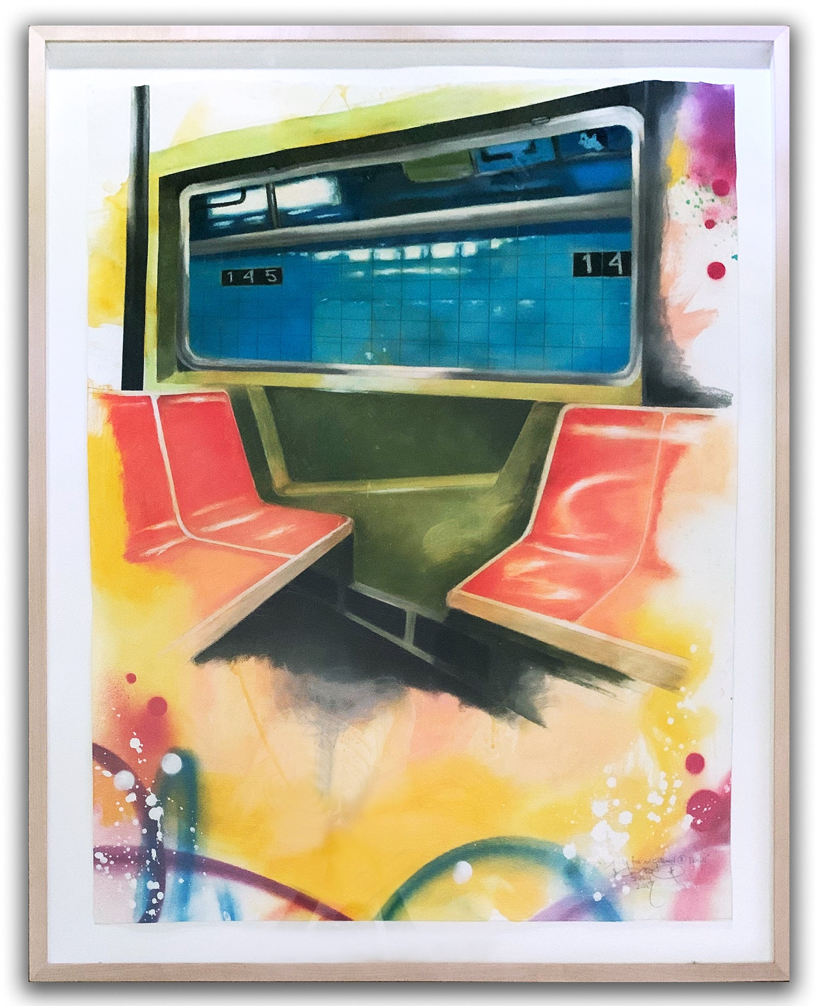 "CHRIS""DAZE""ELLIS - Study for an Uptown B train."