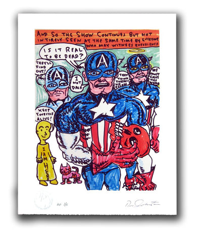 "DANIEL JOHNSTON -  ""Is It Real To Be Dead"" Print"