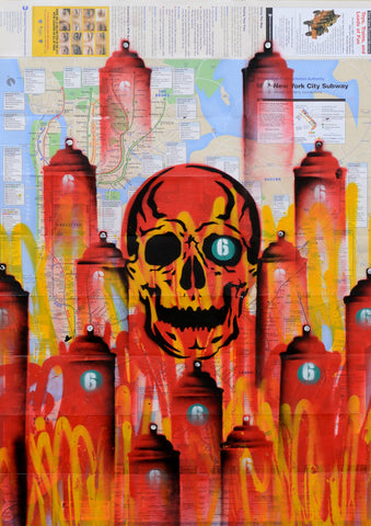 "GRAFFITI ARTIST SEEN -  ""Red Skull 4"" NYC Map"