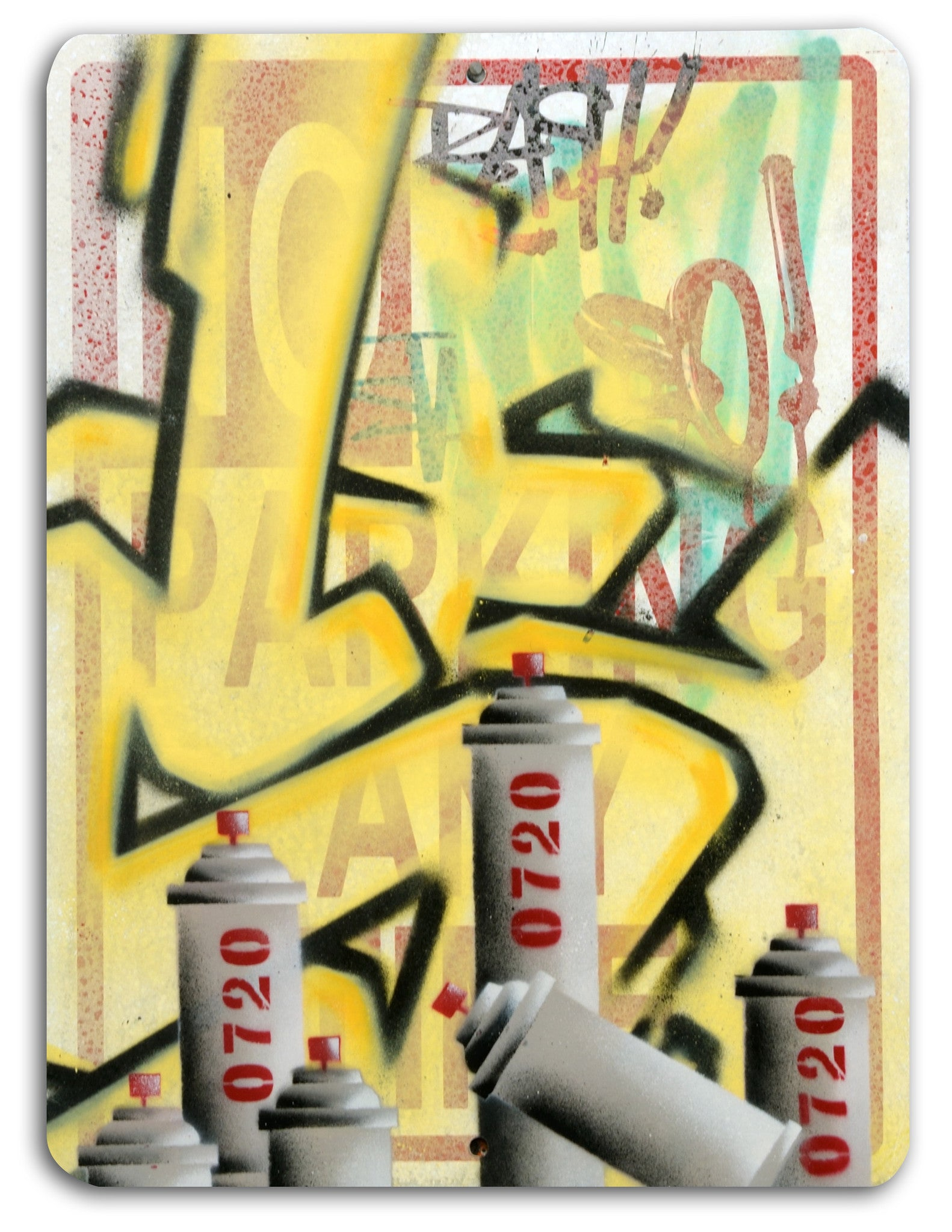 "GRAFFITI ARTIST SEEN -  LARGE 18""x24"" ""No Parking"""