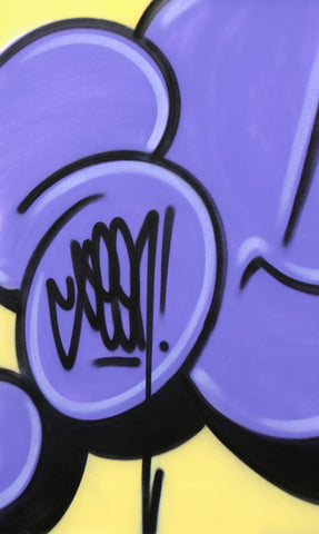 "GRAFFITI ARTIST SEEN -  ""Bubble #2""  Painting on paper"