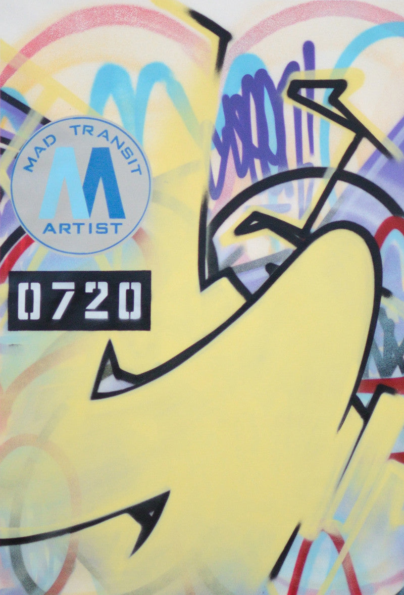 "GRAFFITI ARTIST SEEN -  ""Mad Transit 16""  Painting on Canvas"