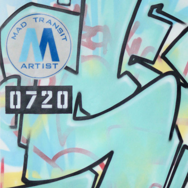 "GRAFFITI ARTIST SEEN -  ""Mad Transit 5""  Painting on Canvas"