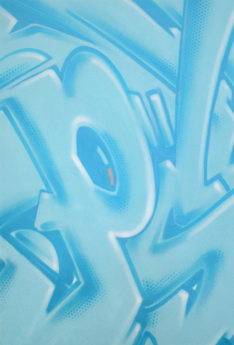"GRAFFITI ARTIST SEEN -  ""Mad Transit #10""  Painting on Canvas"