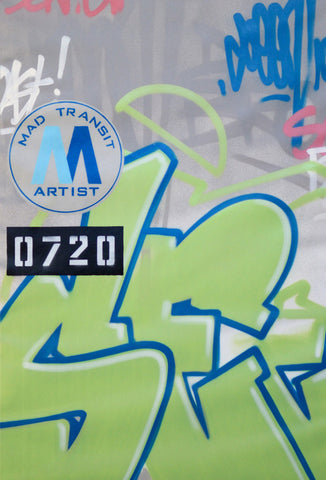 "GRAFFITI ARTIST SEEN -  ""Mad Transit #4""  Painting on Canvas"
