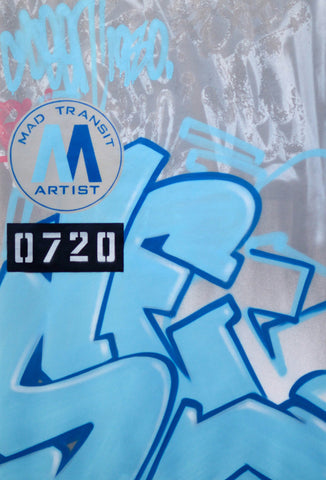 "GRAFFITI ARTIST SEEN -  ""Mad Transit SEEN""  Painting on Canvas"
