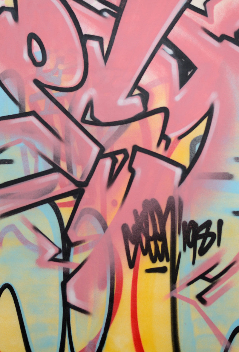 "GRAFFITI ARTIST SEEN -  ""Mad Transit #15""  Painting on Canvas"