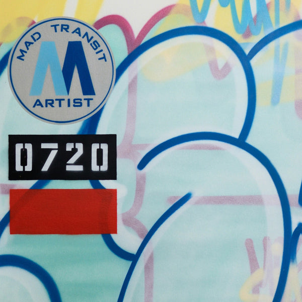 "GRAFFITI ARTIST SEEN -  ""Mad Transit #9""  Painting on Canvas"