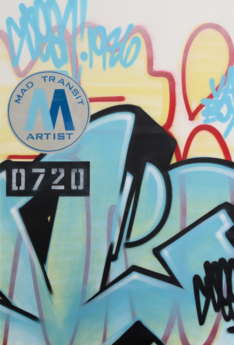 "GRAFFITI ARTIST SEEN -  ""Mad Transit #11""  Painting on Canvas"