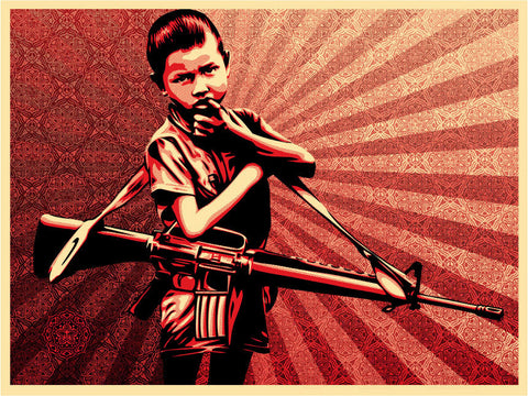 "SHEPARD FAIREY - ""Duality of Humanity 5"""