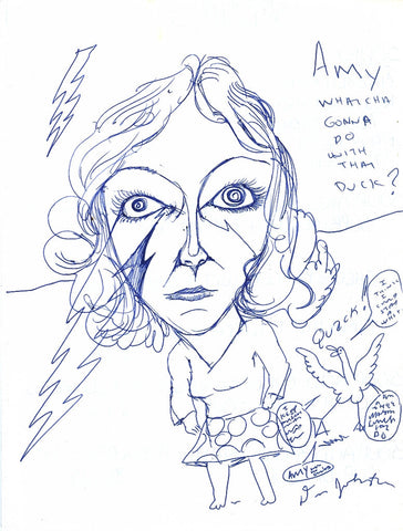 "DANIEL JOHNSTON -  ""Amy what you gonna do"" Drawing"