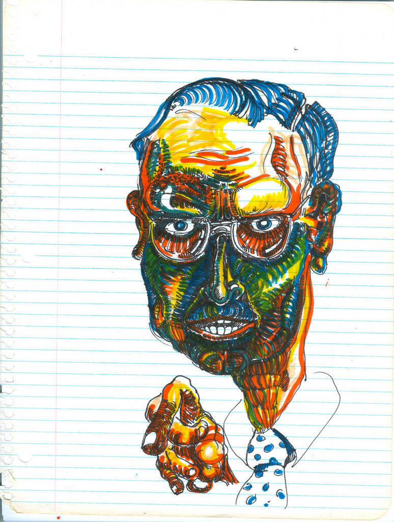 "DANIEL JOHNSTON -  ""Professor"" Drawing"