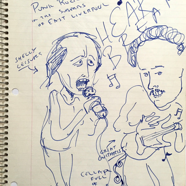 "DANIEL JOHNSTON- ""Heart Breaker"" Notebook Drawing 1980"