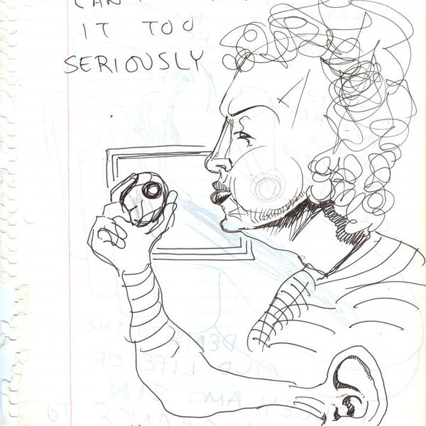 "DANIEL JOHNSTON -  ""I can Hear"" Drawing"