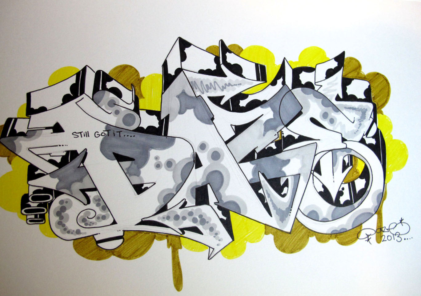"CHRIS ""DAZE"" ELLIS -  ""Still Got It"" Black Book Drawing"