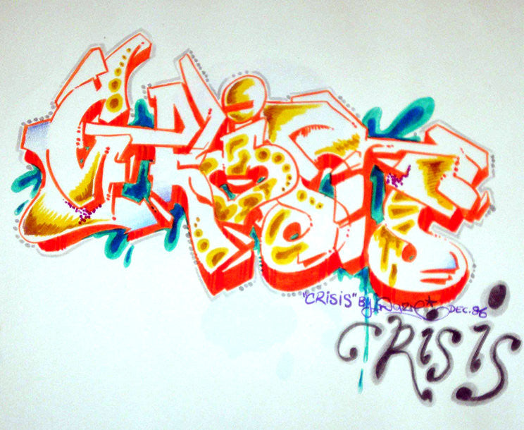 "CHRIS ""DAZE"" ELLIS -  ""Crisis"" Black Book Drawing"