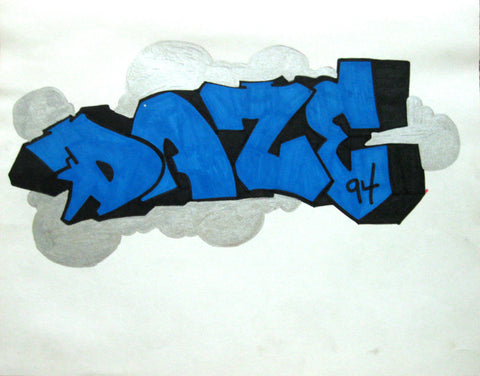 "DAZE  ""Untitled""  Black Book Drawing"
