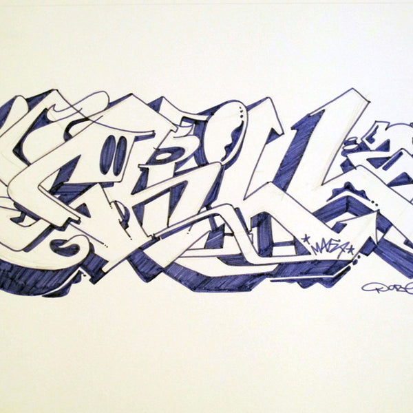 "CHRIS ""DAZE"" ELLIS -  ""Chill Two"" Black Book Drawing"